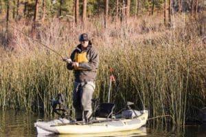Fiskeri fra oppustelig kajak